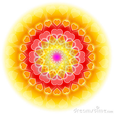 Free Love Mandala 01 - Flowering Of The Heart Royalty Free Stock Photos - 17793368