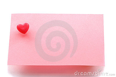 Love message note paper