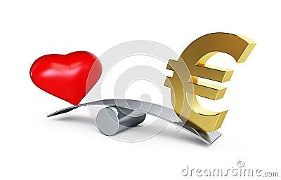 Love or money balances