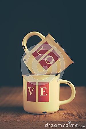 Free Love Mugs Stock Image - 37479581