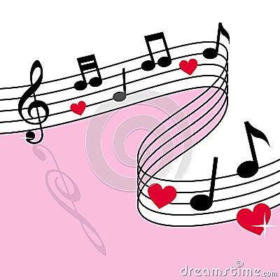 Love Music Vector Illustration