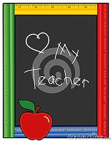 Free Love My Teacher Blackboard Royalty Free Stock Photography - 18973337