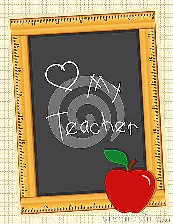 Love My Teacher Blackboard