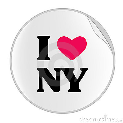 Free Love New York Sticker (STICKER SERIES) Royalty Free Stock Images - 6889089