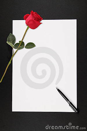 Love Note Stock Photo