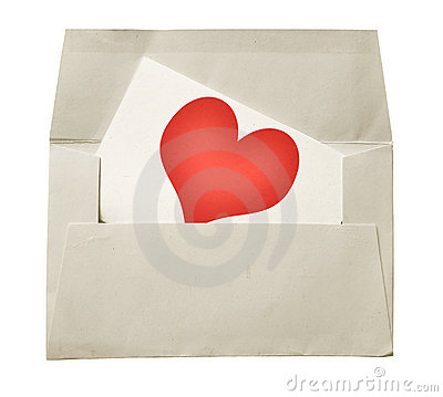 Love note and envelope