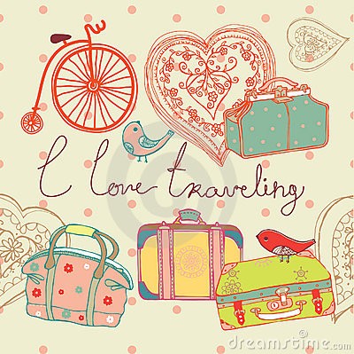 Free Love Of Travel Background Royalty Free Stock Images - 18686799