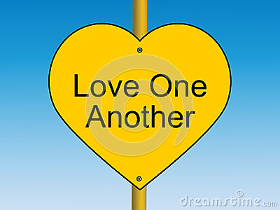 Love one Another road sign