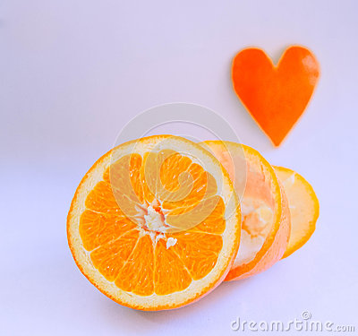 Free Love Orange Heart Stock Photo - 66516780