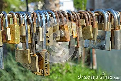 Love padlocks Editorial Image