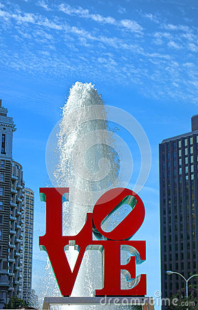 Love Park at JFK Plaza Philadelphia Pennsylvania Editorial Stock Photo