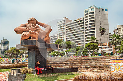 Love Park in Lima Editorial Stock Image