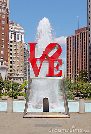 Love Park, Philadelphia Editorial Image