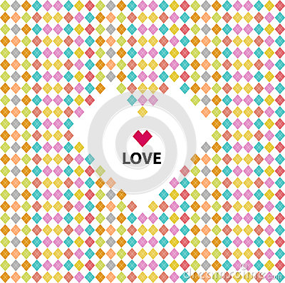 Love pattern, valentines day