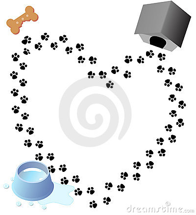 Free Love Paw Prints Dog Treat Royalty Free Stock Photo - 2538015