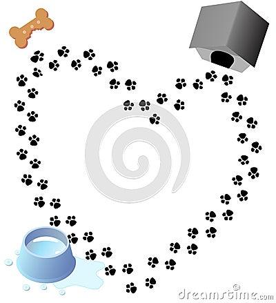 Love Paw Prints Dog Treat