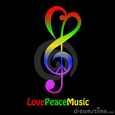Free Love, Peace And Music Royalty Free Stock Photography - 23464247