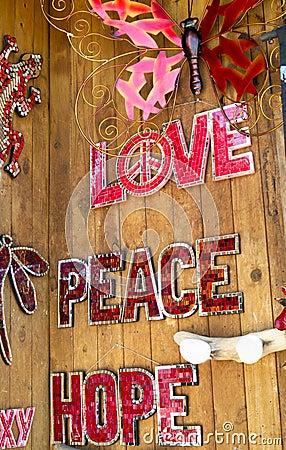 Love, Peace Hope