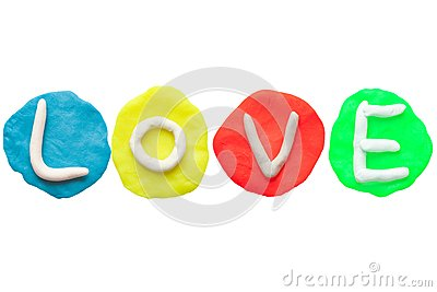LOVE from plasticine and clay