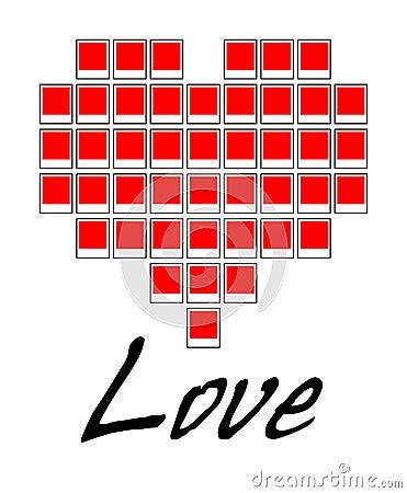 Free Love Polaroid Heart Vector Royalty Free Stock Photos - 3310998