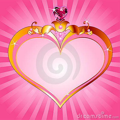Love Princess pink frame