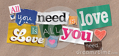 Love quote cuttings