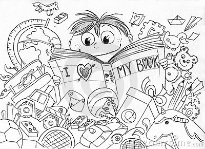 Love for reading BW