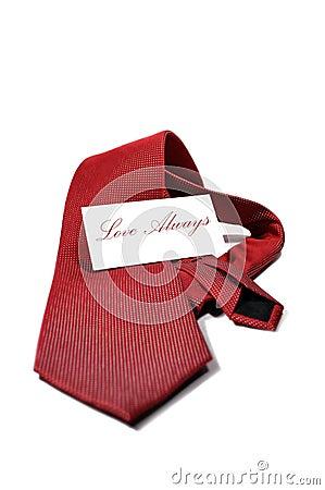 Love always red necktie gift