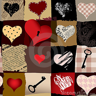 Love retro pattern