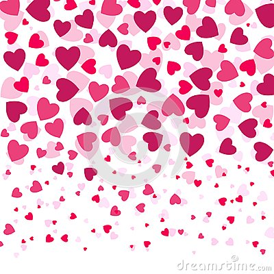 Free Love Romantic Background Witn Colorful Hearts,  Valentines Day Pattern, Royalty Free Stock Photos - 105465758