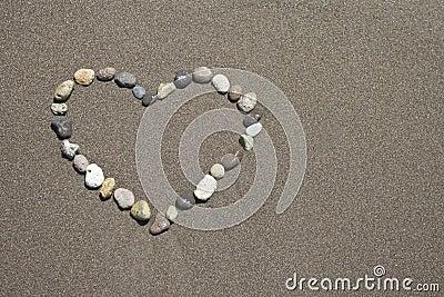 lovein the sandy beach