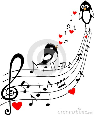 Love score with two black birds