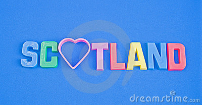 Love Scotland: tourist logo.