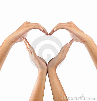Free Love Shape By Hands Stock Photos - 16147123