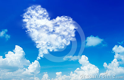 Love shape cloud
