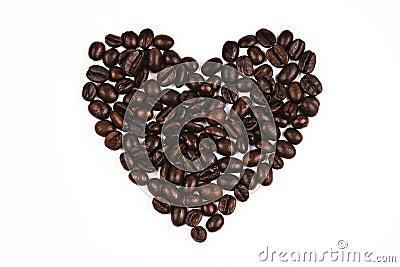 Love Shape Coffee Bean