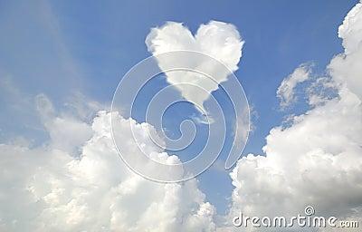 Love shaped cloud