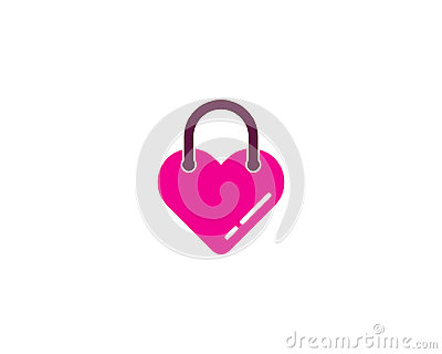Love Shopping Icon Logo Design Element Vector Illustration