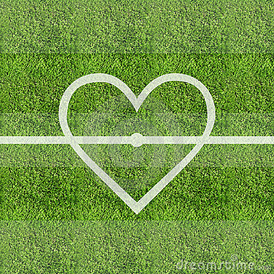 Free Love Soccer Grass Field Background Stock Photo - 7764850