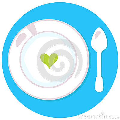 Healthy soup with heart