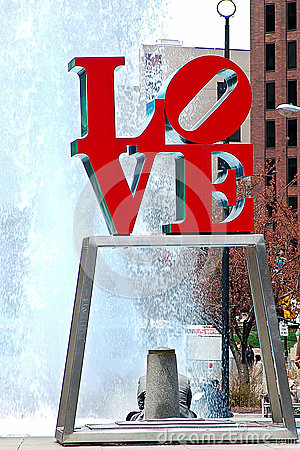 Love Statue Editorial Photo