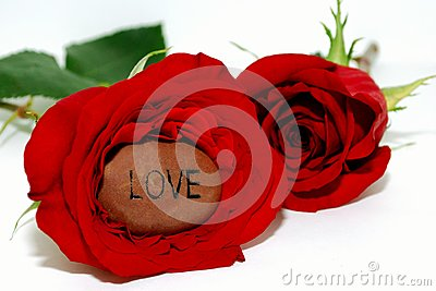 Love Stone inside a Rose