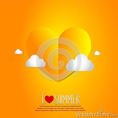 Love Summer Paper Heart