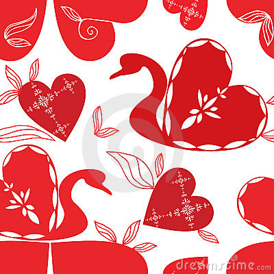 Love swan pattern, holidays .