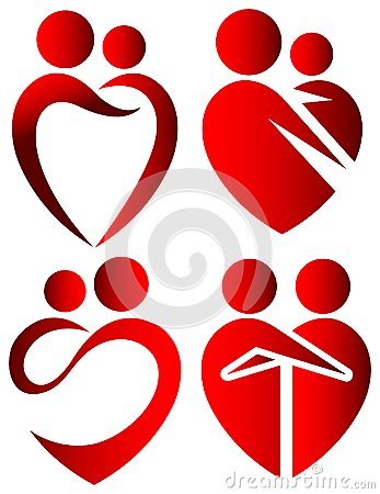 Love symbols Vector Illustration