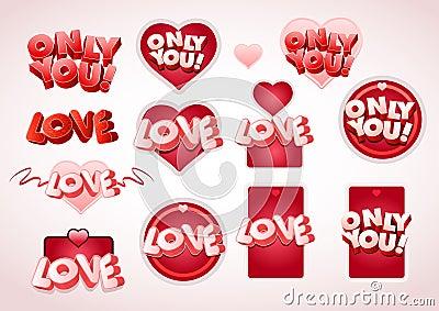 Love tag set