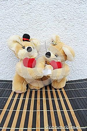 In love teddy bears