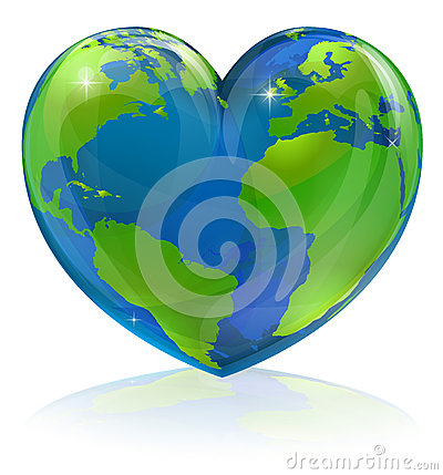 Free Love The World Heart Concept Royalty Free Stock Images - 30403479