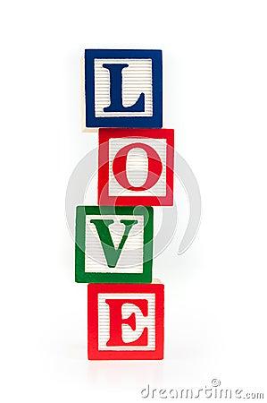 Free LOVE Toy Alphabet Blocks Stock Photography - 32368202