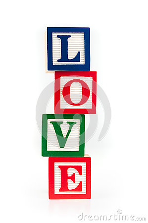 LOVE toy alphabet blocks